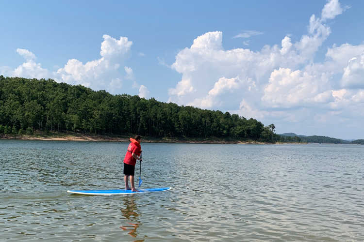 Paddle Board on Broken Bow Lake-Lets Go Broken Bow
