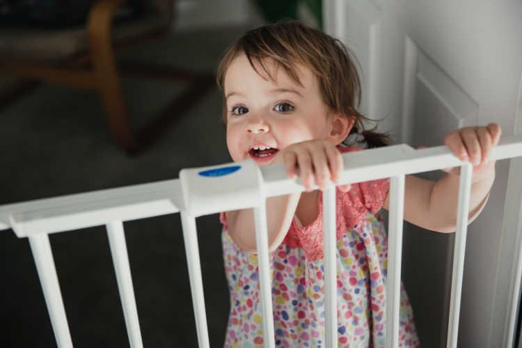 Little girl child proof gate - Lets Go Broken Bow